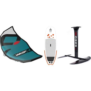 Ozone WASP V1 Wing + Shark SurfSUP + Moses Hydrofoil Surf Foil
