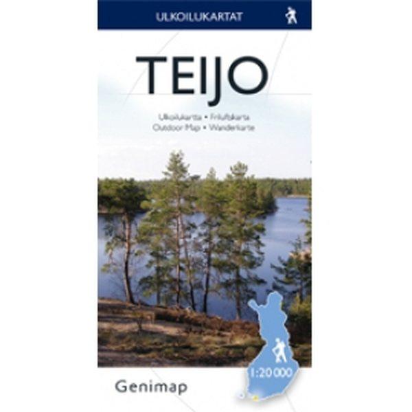 Teijo Ulkoilukartta 1 20 000 2005 Taitettu Suomen Retkeily Ja