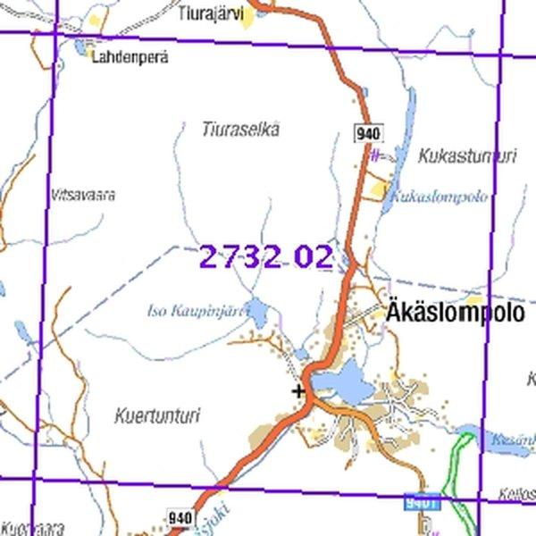 Akaslompolo 64 68 Taitettu 2732 02 Topogr Kartta Varuste Net