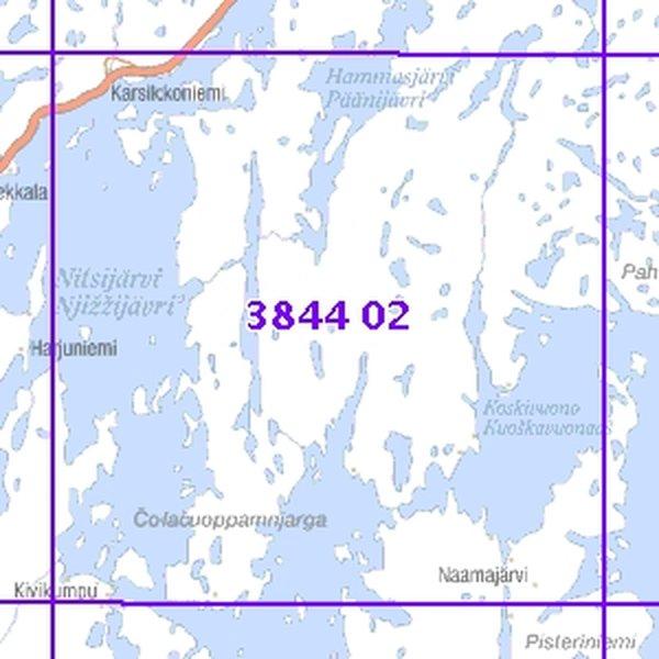 Nitsijarvi 61 71 Taitettu 3844 02 Topogr Kartta Varuste Net