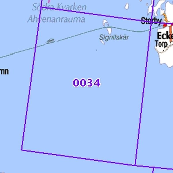 Signilskar 91 94 Sk Taitettu 0034 Topografinen Kartta Varuste