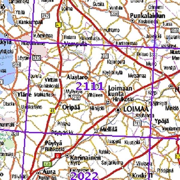 Loimaa 98 99 00 Sk Taitettu 2111 Topografinen Kartta Varuste
