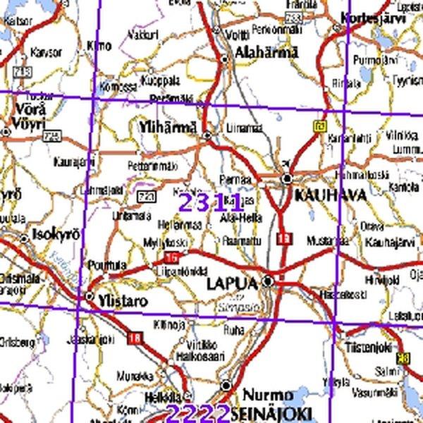 Lapua 97 98 Taitettu 2311 Topografinen Kartta Varuste Net English