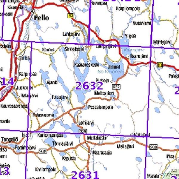 Meltosjarvi 97 98 Taitettu 2632 Topografinen Kartta Varuste