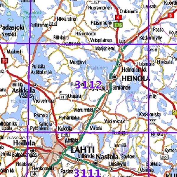 Heinola 98 99 Sk Taitettu 3112 Topografinen Kartta Varuste