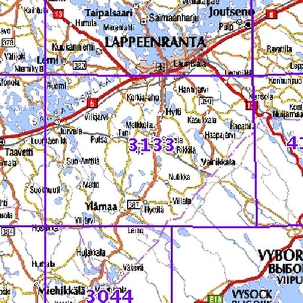 Vainikkala 96 97 Sk Taitettu 3133 Topografinen Kartta Varuste