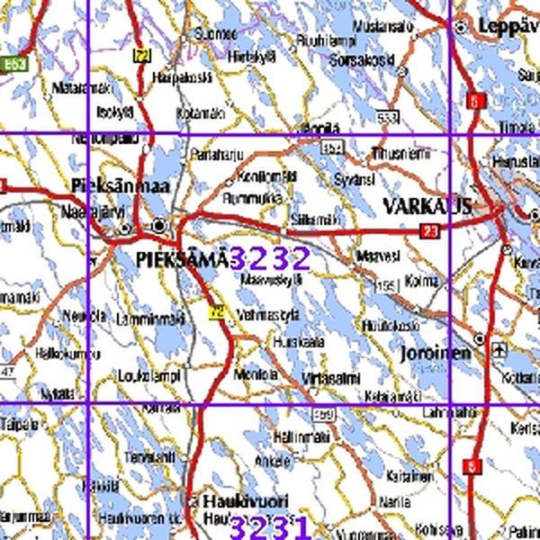 Pieksamaki 00 01 Sk Taitettu 3232 Topografinen Kartta Varuste
