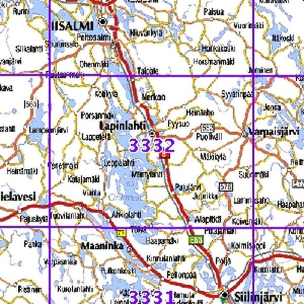 Lapinlahti 01 02 Sk Taitettu 3332 Topografinen Kartta Varuste