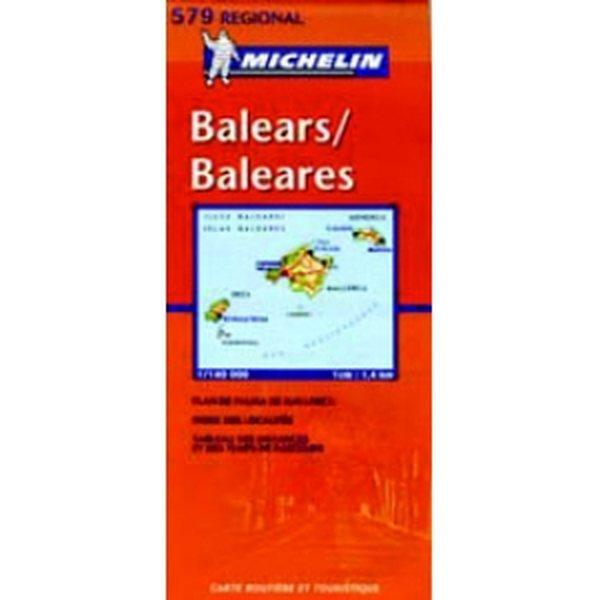 Baleaarit Ibiza Mallorca Tiekartta 1 400 000 Michelin