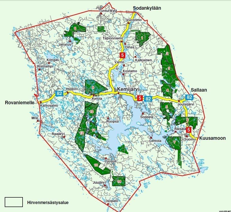 Kemijarven Yhteismetsa Kartta Ja Saalisilmoituslomake Varuste Net