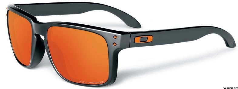 oakley holbrook dark grey / fire iridium polarized