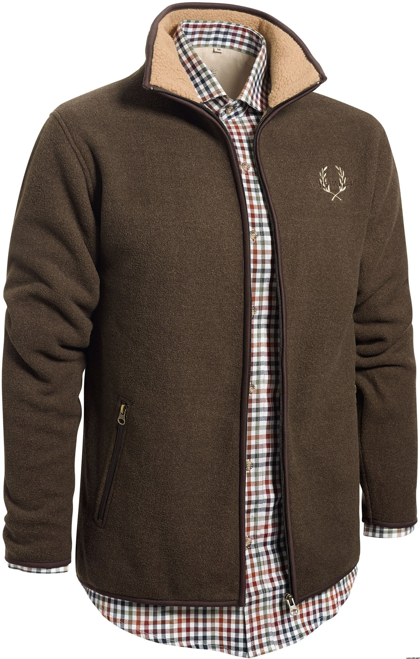 Chevalier mainstone fleece cardigan brown