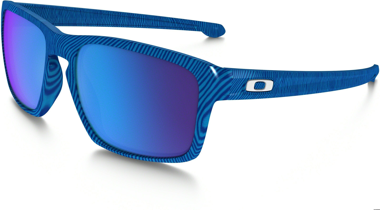 9a57d243768a57 Oakley Sliver Fingerprint Collection, Sky Blue w  Sapphire Iridium ...
