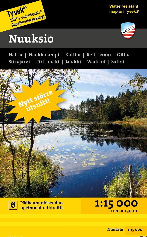 Calazo Nuuksio Noux 1 15000 Suomen Retkeily Ja Ulkoilukartat