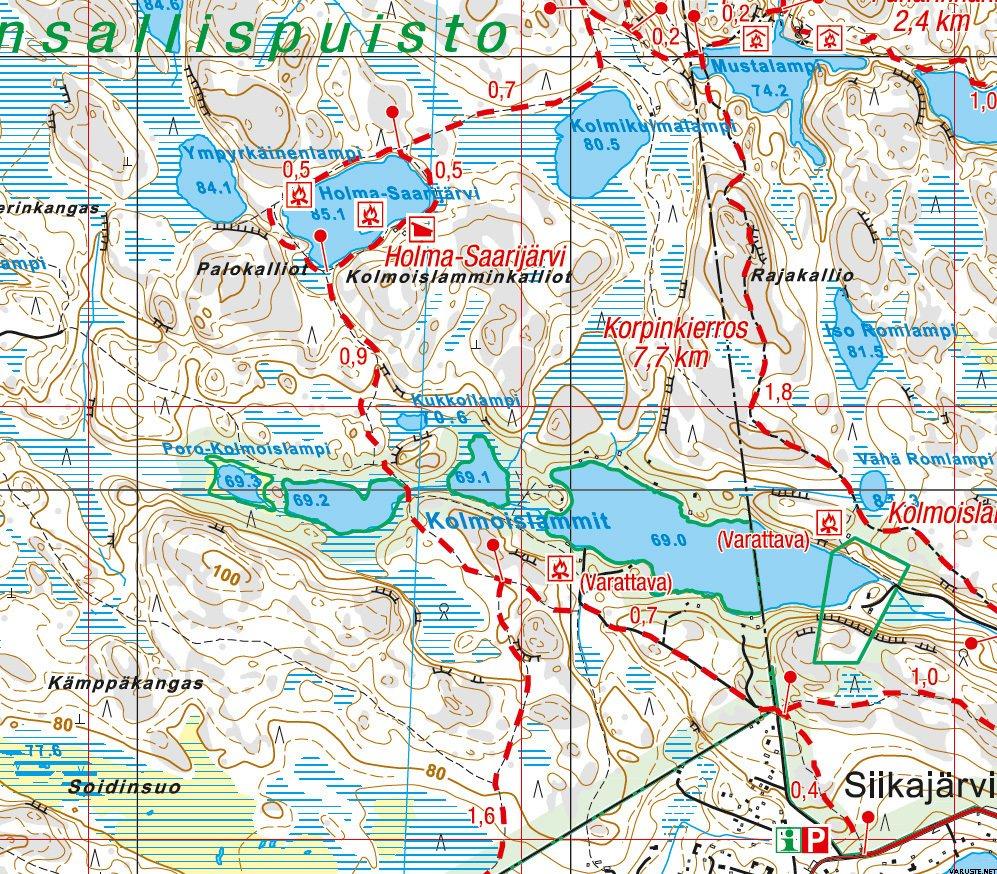 Nuuksio Luukki 1 20 000 Vedenkestava Ulkoilukartta 2016 Outdoor