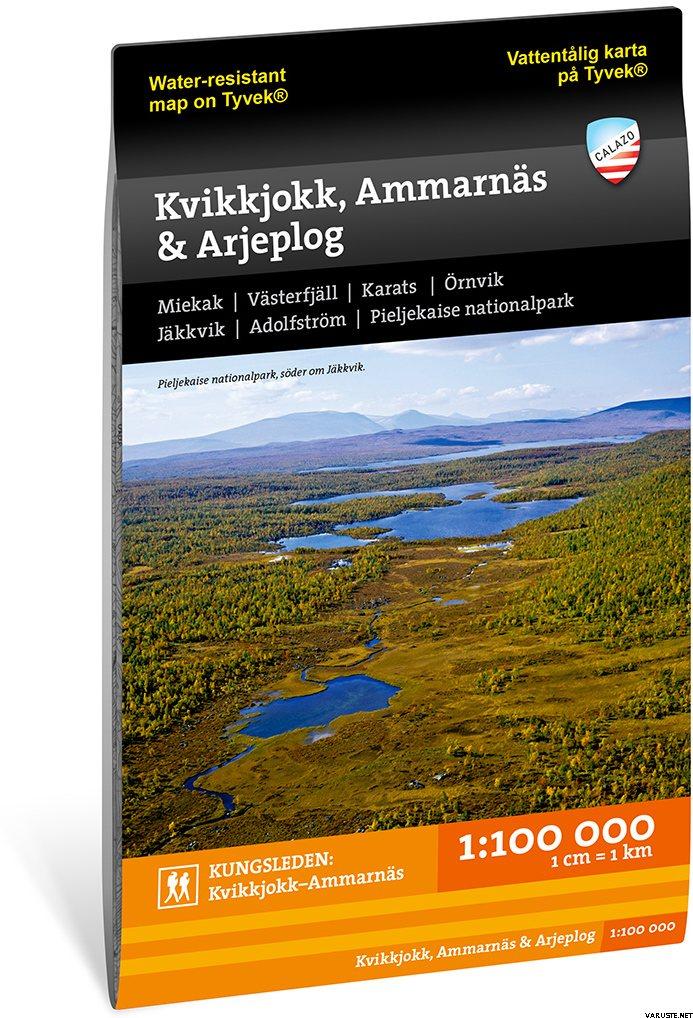 Calazo Kvikkjokk Ammarnas Arjeplog 1 100 000 2017 Ruotsin