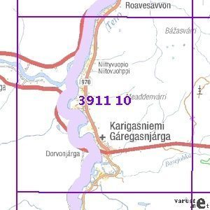 Karigasniemi 69 77 Taitettu 3911 10 Topogr Kartta Varuste Net