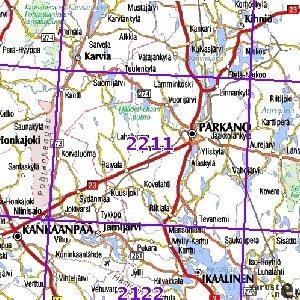 Parkano 93 94 Sk Taitettu 2211 Topografinen Kartta Varuste