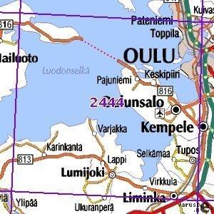 Oulu 01 02 Sk Taitettu 2444 Topografinen Kartta Varuste Net
