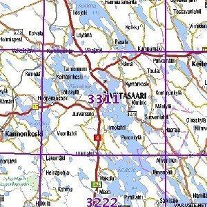 Viitasaari 00 01 Sk Taitettu 3311 Topografinen Kartta Varuste