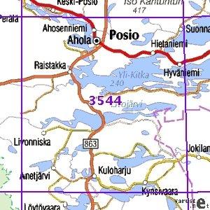 Posio 96 97 Sk Taitettu 3544 Topografinen Kartta Varuste Net