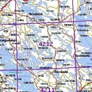 Savonranta 00 Sk Taitettu 4212 Topografinen Kartta Varuste Net