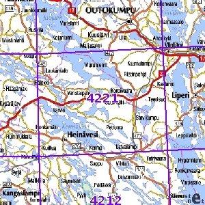 Heinavesi 95 97 Sk Taitettu 4221 Topografinen Kartta Varuste
