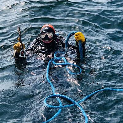 Diver at Garpen